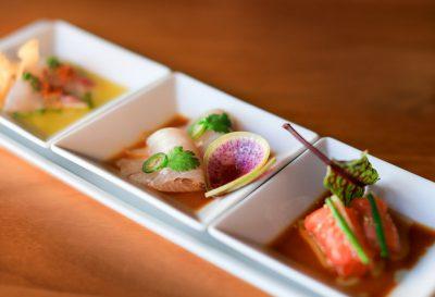 Dishes from Nobu Restaurant