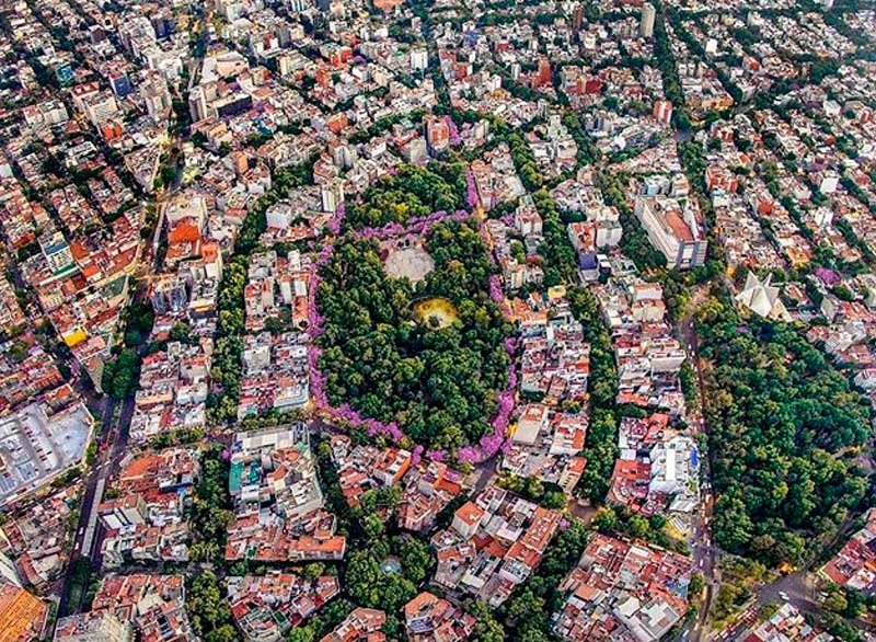 Drone Image of Colonia Condesa